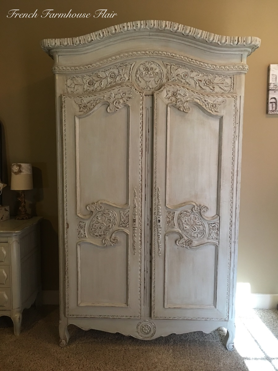 Antique French Flair Armoire Makeover French Farmhouse Flair